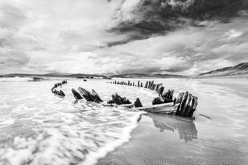 Sunbeam Wreck on Rossbeigh Beach by Matthew Murphy