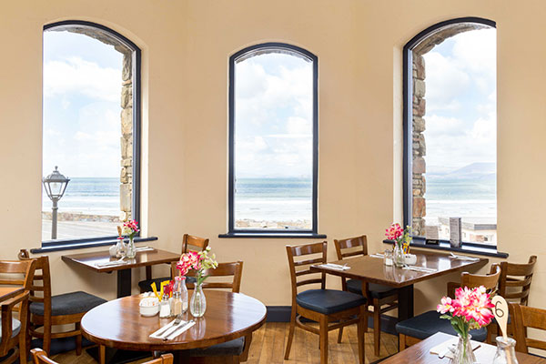 Rosspoint restaurant view of Rossbeigh Beach