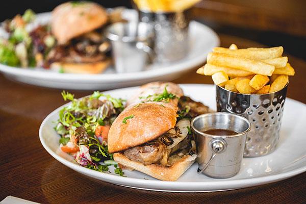 Steak Sandwich at Rosspoint Restaurant, Rossbeigh (from www.maryellajourdak.com)
